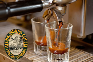Pure Kona Coffee Espresso from Aloha Island Coffee