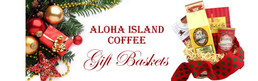 Beautiful Coffee Gift Baskets from Aloha Island Coffee