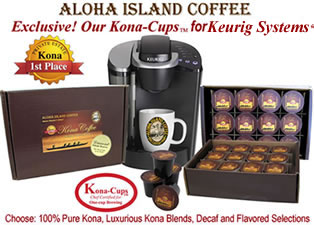 Kona-Cups for use in the Keurig K-cup Brewing Systems