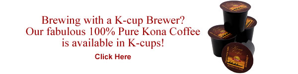 100% Pure Kona Coffee K-cups from Aloha Island Coffee
