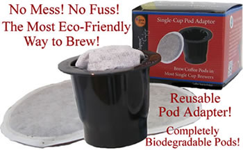 Reusable Pod Adapter is the most Eco-friendly way to K-cup Brew